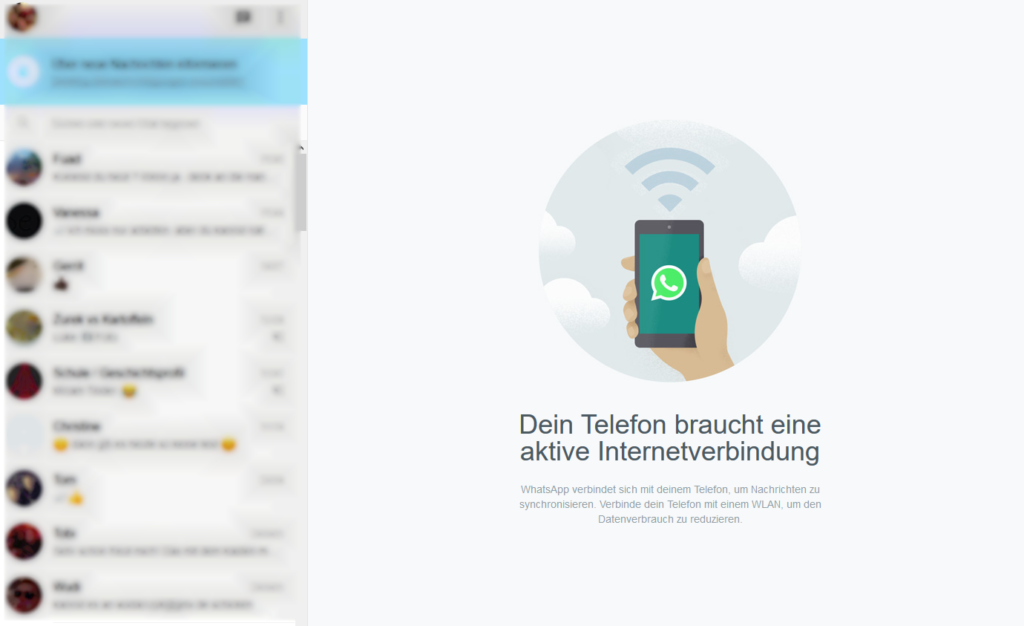 WhatsApp Web im Browser