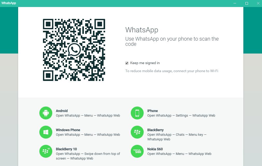 WhatsApp für PC - QR-Code