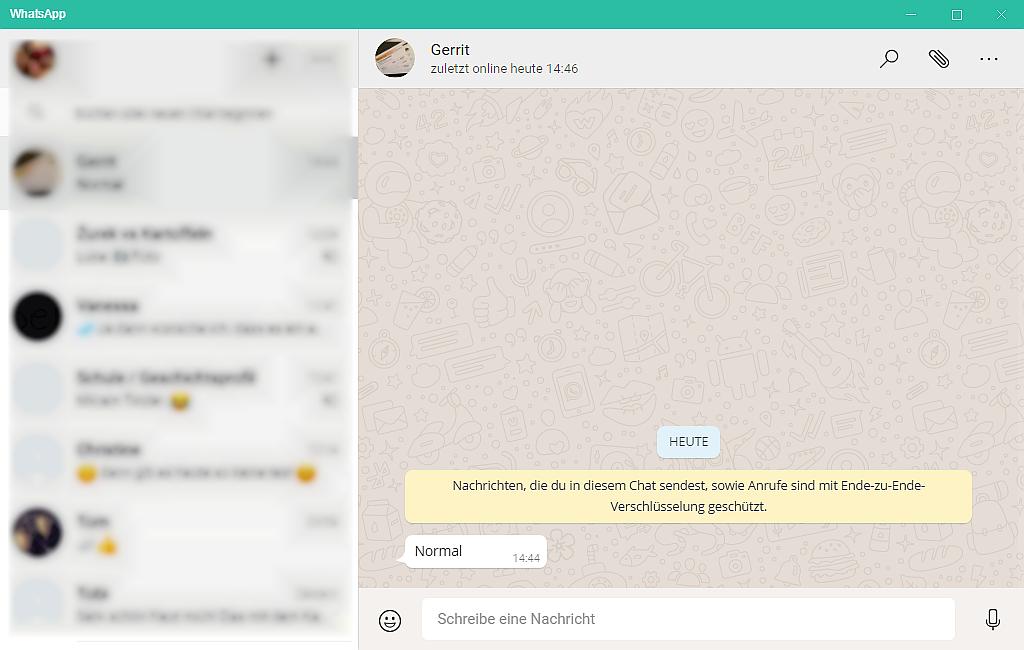 WhatsApp für PC - Anwendung