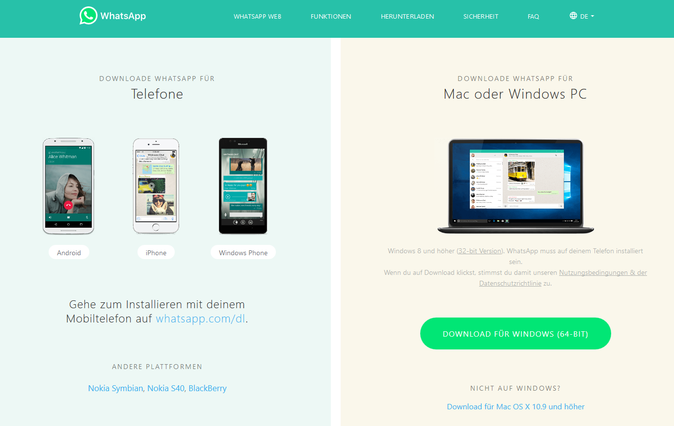 WhatsApp für PC - Download