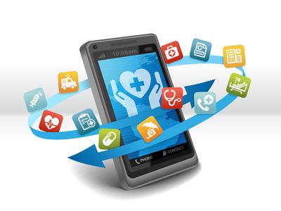 App-Icons umkreisen Smartphone